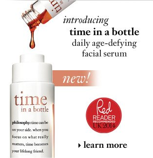 time in a bottle daily age-defying serum. learn more