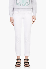 RAG & BONE White The Dre Boyfriend Skinny Jeans for women