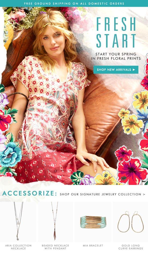Fresh Start! Start your spring in fresh floral prints