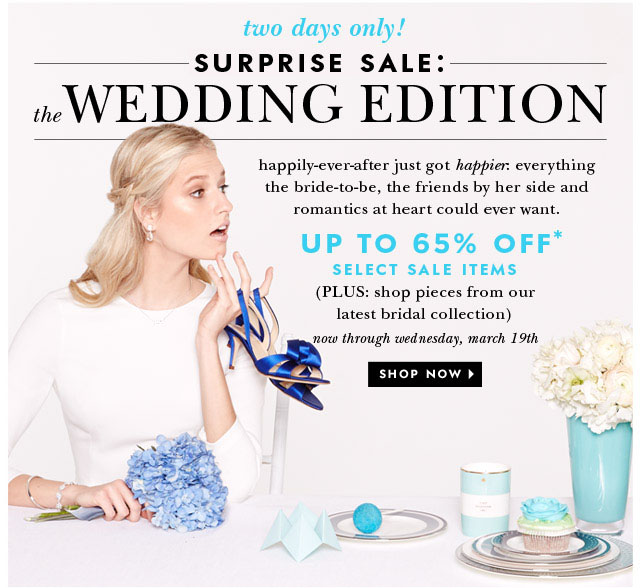 surprise sale: the wedding edition