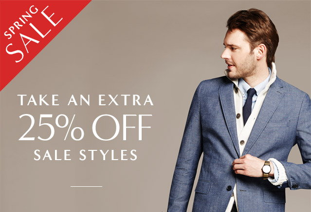 SPRING SALE | TAKE AN EXTRA 25% OFF SALE STYLES