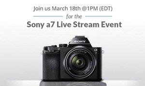 Sony a7 Live Stream Event