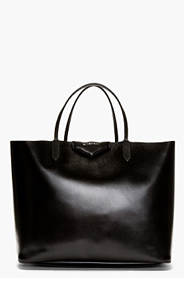 GIVENCHY Black Leather Large Antigona Shopping Tote for women