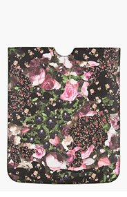 GIVENCHY Black & Pink pebbled Floral Camo iPad Sleeve for women