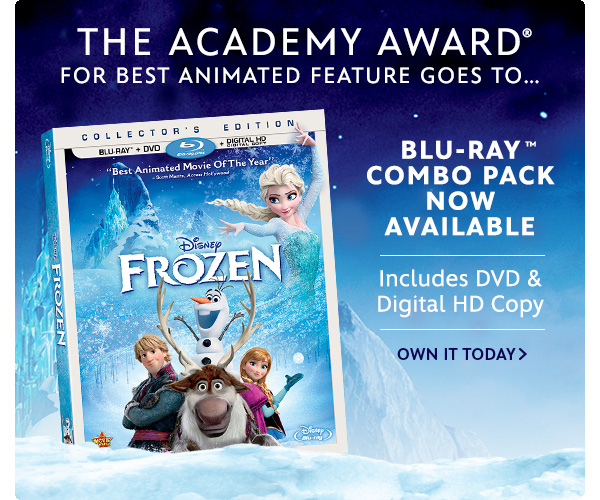 Disney Frozen, Now available on Blu-Ray Combo Pack   Shop Now