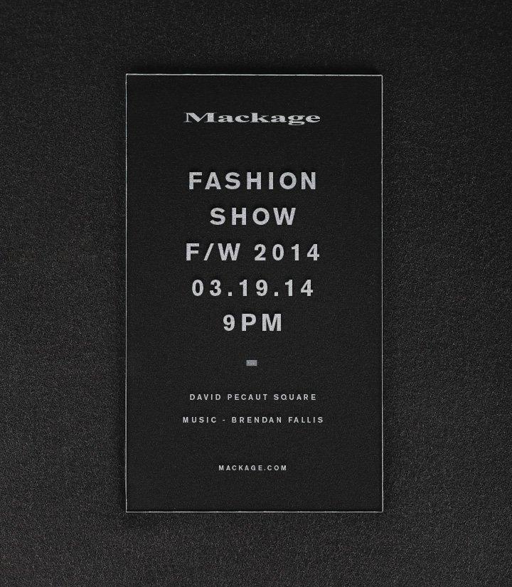 Mackage Fashion Show