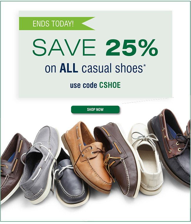 25% off Casual Shoes
