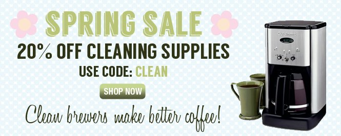 Get 20% off cleaning supplies