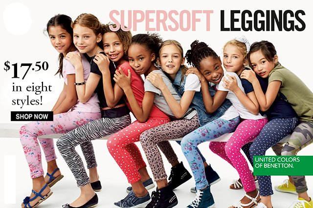 Supersoft Leggings for girls. Choose from eight different prints!