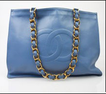 Chanel Light Blue Tote
