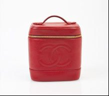 Chanel Red Caviar Vanity Case