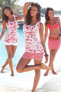 LASCANA Coral Print 2 in 1 Top & Skirt Set