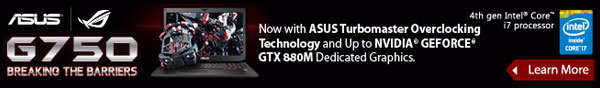 Now With Asus Turbomaster Overclocking Technology And Up To Nvidia Geforce GTX 880M Dedicated Graphics.