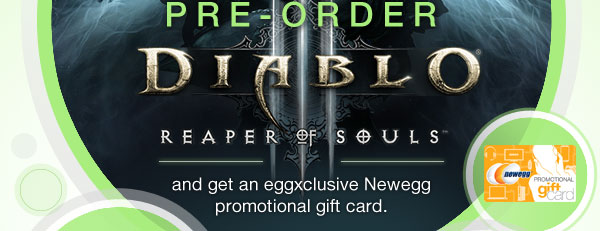 and get an eggxclusive Newegg promotional gift card.