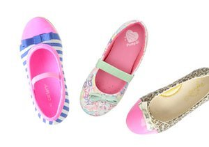 A Pop of Print: Girls' Shoes