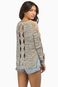 Twisted Over You Knit Sweater $57
