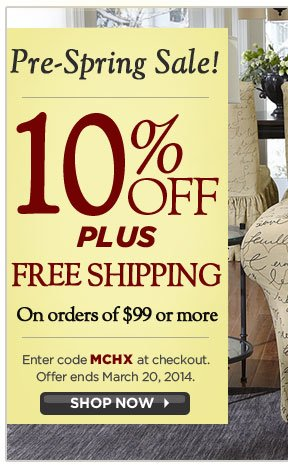 10% off + Free Shipping