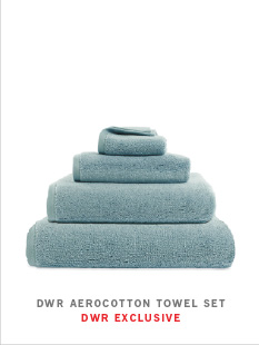 DWR AEROCOTTON TOWEL SET DWR EXCLUSIVE