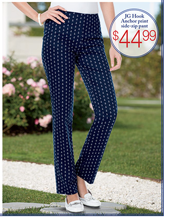 JG HOOK® anchor print pants $44.99