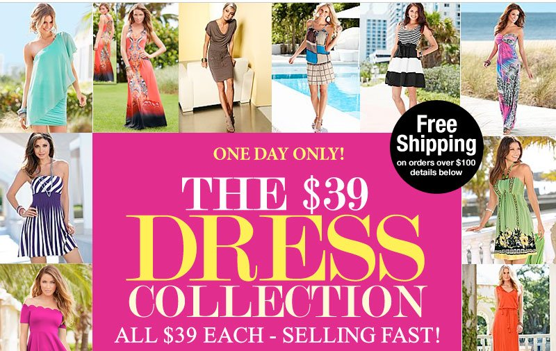 Day of WOW! Dresses just $39! TODAY ONLY, all just $39 each - Selling FAST! Shop NOW!