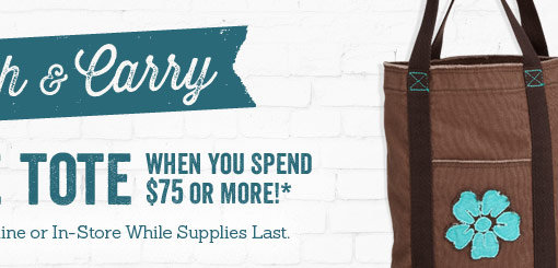 Free Tote When You Spend $75 or More