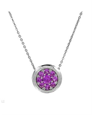 White Gold Necklace with 0.40 CTW Sapphires