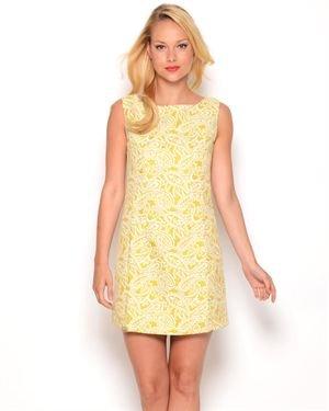 Gracia Two-Tone Paisley Dress