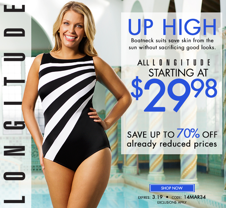 All Longitude starting at $29.98 - save up to 70% OFF already reduced prices - shop now