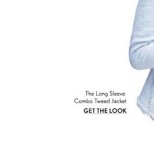 Long Sleeve Combo Tweed Jacket