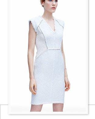 Zip Tweed Combo Dress