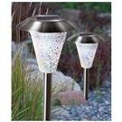 4-Pk. Solar-powered Pearl Mosaic Lights