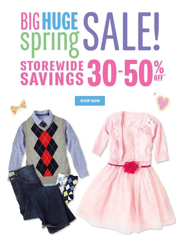 Big Huge Spring Sale!