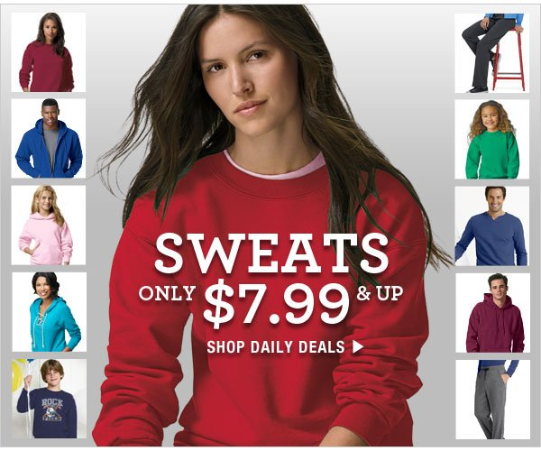 Daily Deals: Sweats $7.99 & up