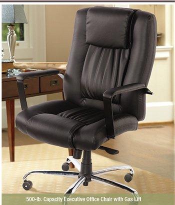 500-lb. Capacity Executive Office Chair with Gas Lift