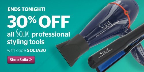 Ends Tonight! 30% off All Solia Products