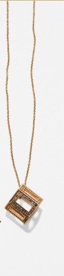 Deco Geometric Pendant Necklace