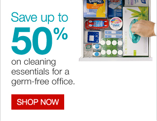 Save up to 50% on cleaning essentials for a germ-free office. Shop now.