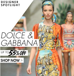 DOLCE GABBANA UP TO 55% OFF