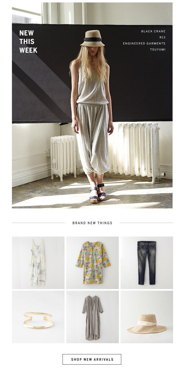 just in: Black Crane, R13, Engineered Garments, Tsuyumi