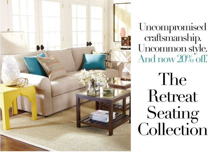 20% off retreat seating