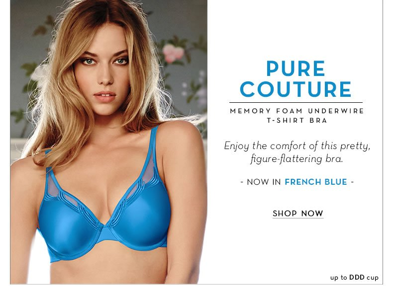 Pure Couture T-Shirt Bra - Now in French Blue
