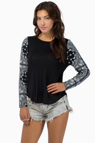 Bandanas Make Her Dance Top $23