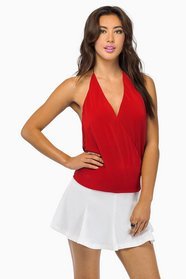Deep V-Back Top $32