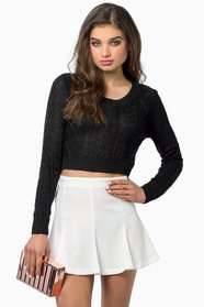 Amy Cropped Sweater $30