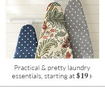 Practical & pretty laundry essentials, starting at $19