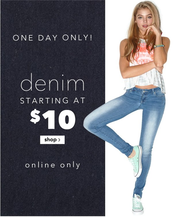 denim STARTING AT $10