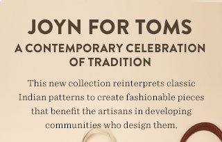 JOYN for TOMS - a contemporary celebration of tradition
