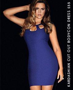 Kardashian Cut Out Bodycon Dress