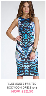 Sleeveless Printed Bodycon Dress
