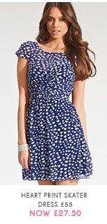 Heart Print Skater Dress